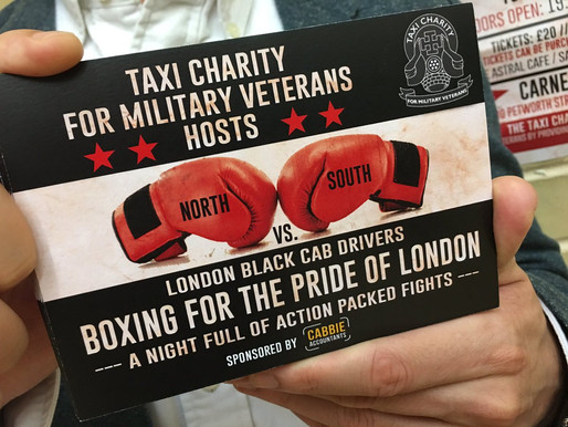 Taxi Charity to host London Black Cab Drivers Boxing Night