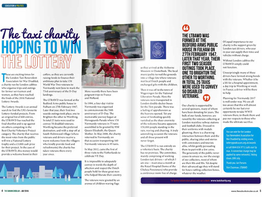 The taxi charity hoping to win the lottery, The Suburb Circular - July 2016