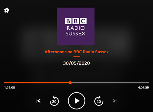 Volunteer driver Mike Hughes interviewed on BBC Radio Sussex about Major Ted Hunt