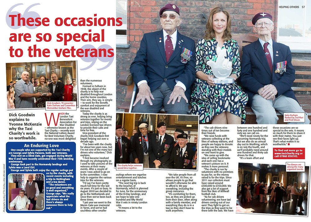 Taxi Charity feature in The People's Friend