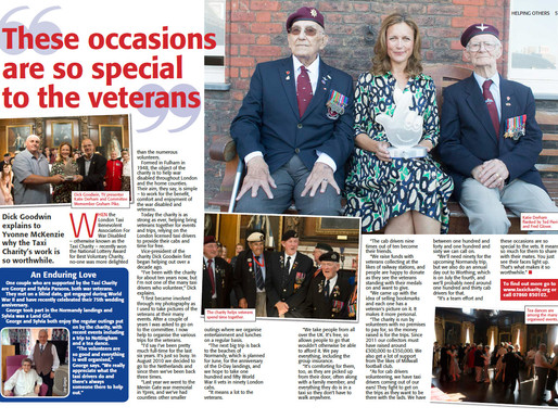 Taxi Charity feature in January issue of The People's Friend