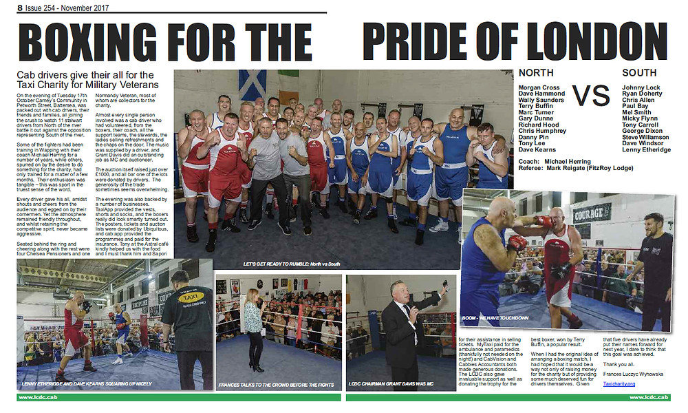 Boxing for the pride of London, The Badge