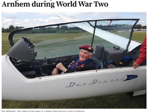 100-year-old Ryedale veteran takes to skies in a glider, The Scarborough News