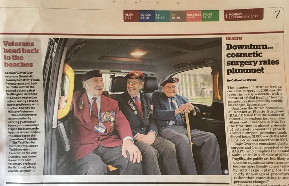 Taxi Charity in The Independent