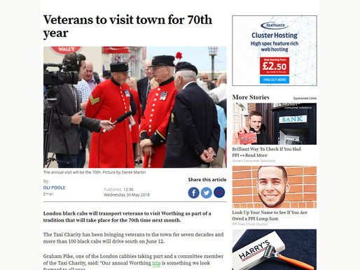 Press Coverage: Veterans to visit town for 70th year, Worthing Herald