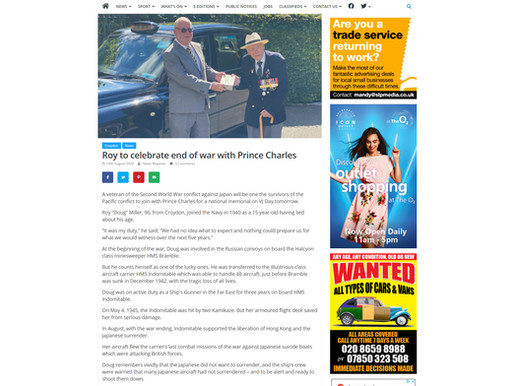 Roy to celebrate end of war with Prince Charles, South London Press