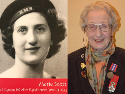 Fort Southwick switchboard operator Marie Scott awarded the prestigious Legion Of Honour