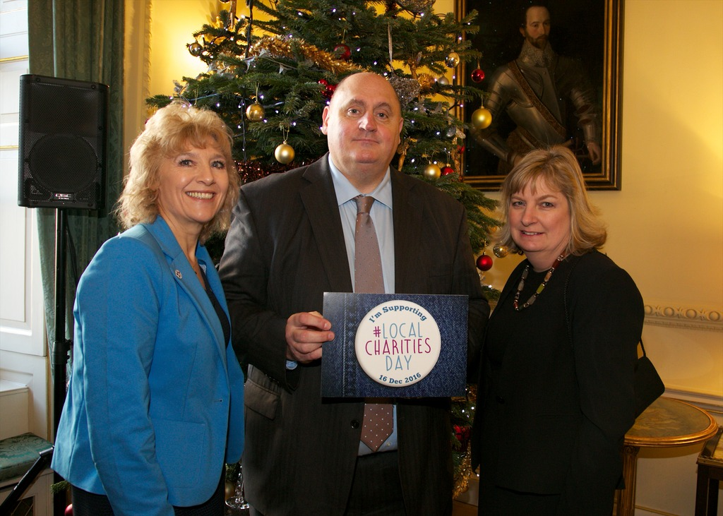 Dick Goodwin from Taxi Charity at Downing Street reception. Zoe Norfolk Photography.