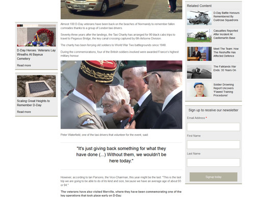 London Cabbies Take D-Day Veterans Back To Normandy, Forces Network