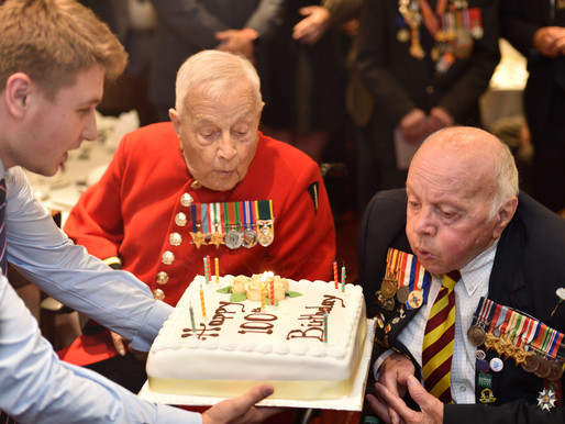 Photos from Jeffrey, Ray and George's 100th birthday party