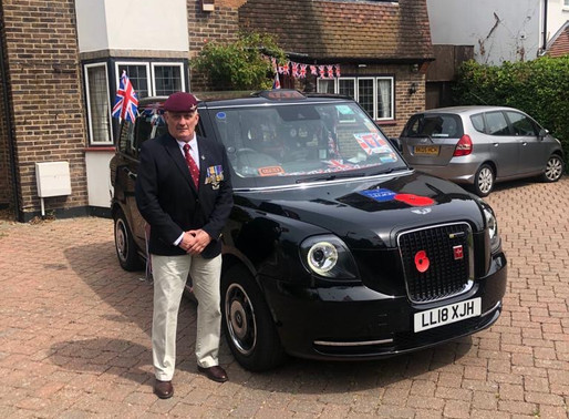 Press Release: From Parachute Regiment to fundraising London cabbie