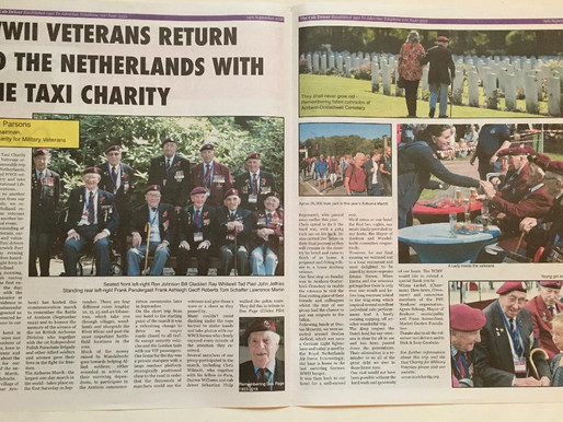WWII veterans return to the Netherlands with the Taxi Charity, The Cab Driver Newspaper