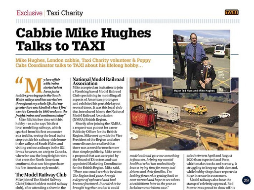 Cabbie Mike Hughes talks to TAXI