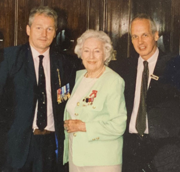 Colonel Tim Collins, Dame Vera Lynn and Michael Calvey