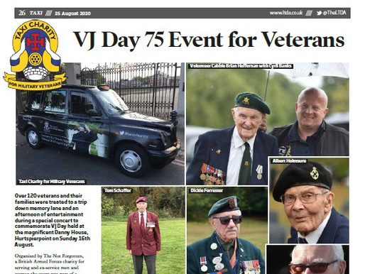 VJ Day 75 event for veterans, TAXI