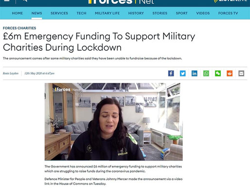 £6m Emergency funding to support military charities during lockdown, Forces News