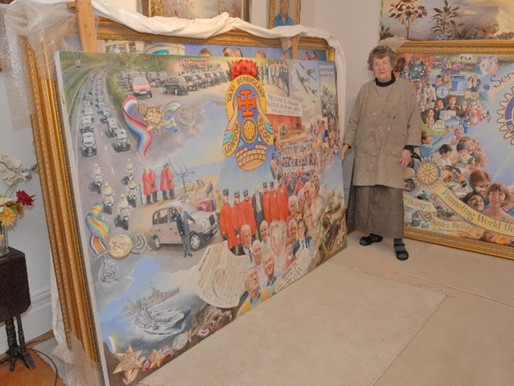 Artist Rosa Branson MBE and the Taxi Charity