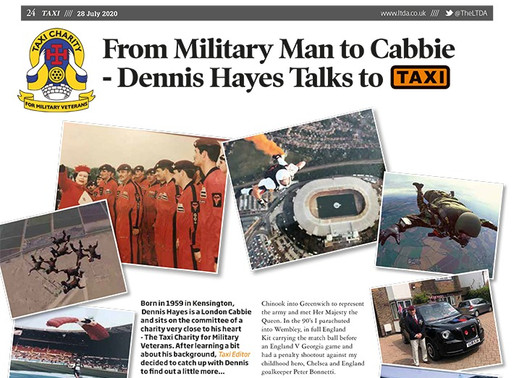 From military man to cabbie - Dennis Hayes talks to TAXI