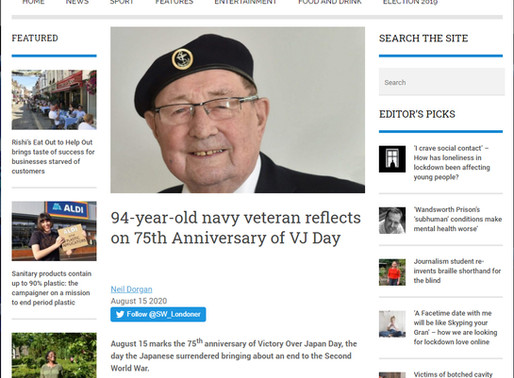 94-year-old navy veteran reflects on 75th anniversary of VJ Day, SW Londoner