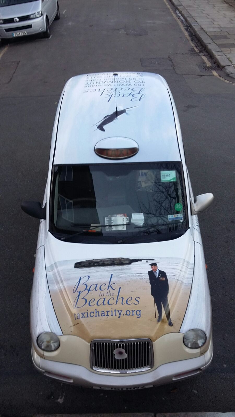 Back To The Beaches taxi wrap