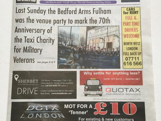 Back To The Bedford, The Cab Driver Newspaper