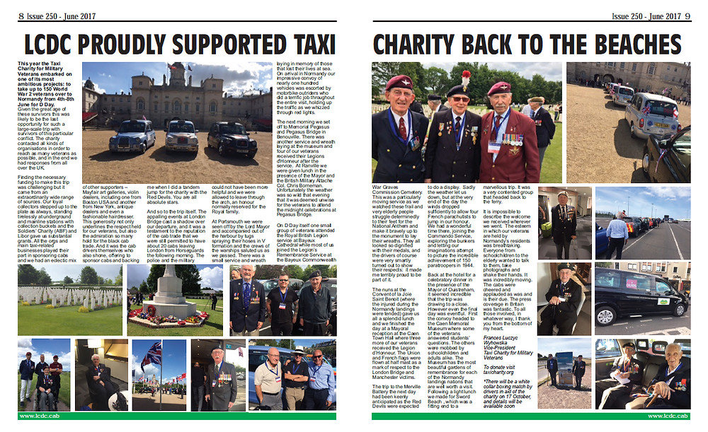 LCDC proudly supported Taxi Charity Back To The Beaches
