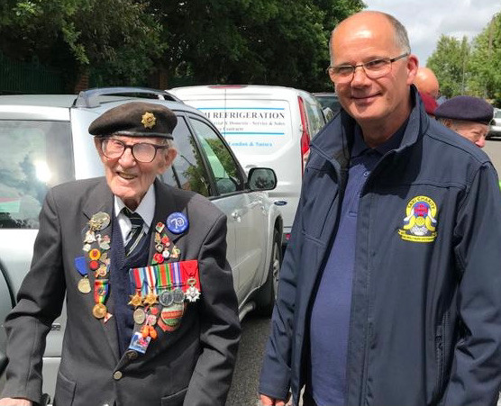 Ian Parsons with WWII veteran, Harry Bailey