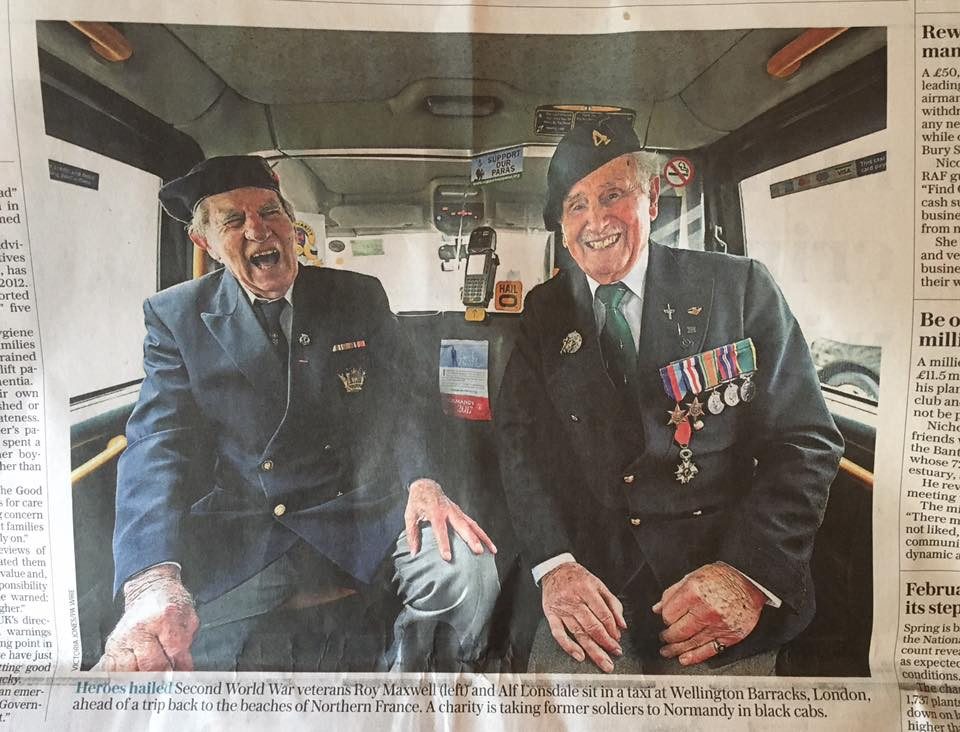 Taxi Charity in The Telegraph