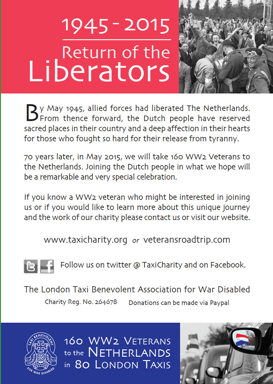 Taxi Charity Netherlands 2015 Return of the liberators.jpg