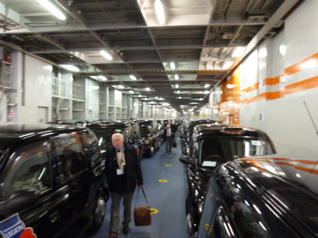 London taxis on the Stena Line ferry to Holland