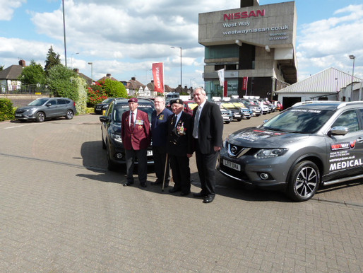 West Way Nissan donates support vehicles for our Back To The Beaches trip to Normandy