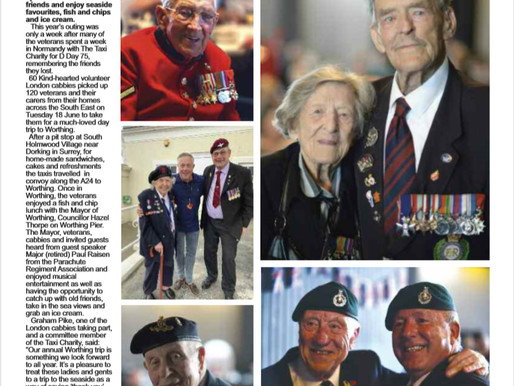 Taxi Charity takes veterans to Worthing, The Badge