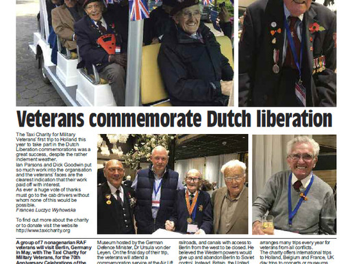 Veterans commemorate Dutch liberation, The Badge