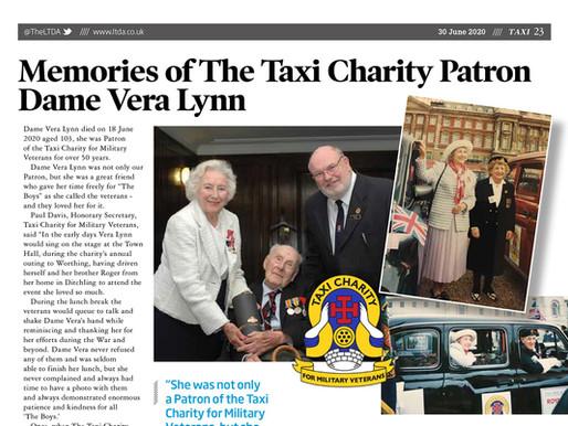 Memories of the Taxi Charity patron, Dame Vera Lynn, TAXI