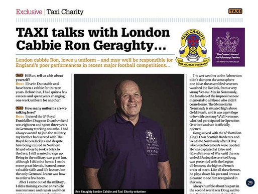 TAXI talks with London cabbie Ron Geraghty