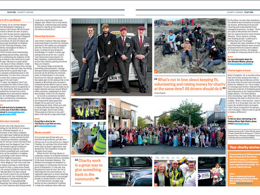Taxi Charity's Graham Pike appears in OnRoute magazine
