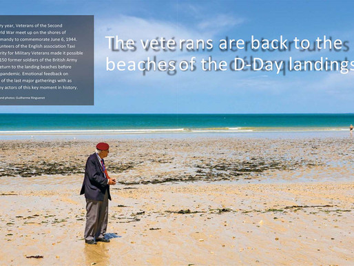 With the D-Day veterans, Echo Magazine