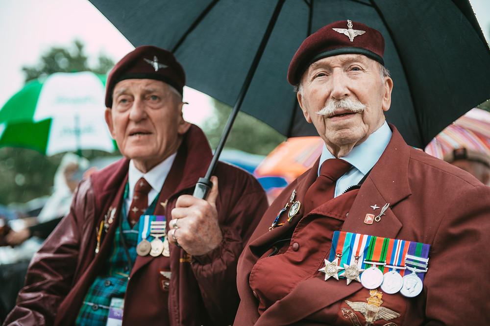 WWII veterans John Pinkerton and Tom Schaffer