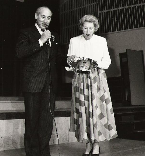 Harry Joel with Taxi Charity patron, Dame Vera Lynn, at Worthing in 1985