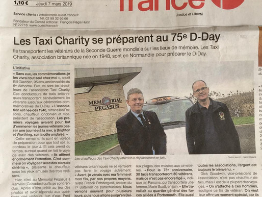 The Taxi Charity prepares for the 75th anniversary of D-Day, Ouest France