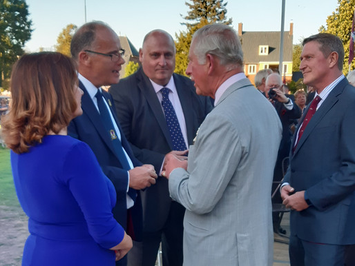 Taxi Charity meet HRH Prince Charles at ambassador's reception at Hartenstein Museum