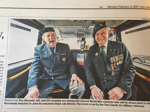 Fantastic press coverage for the launch of our Back To The Beaches veterans' trip