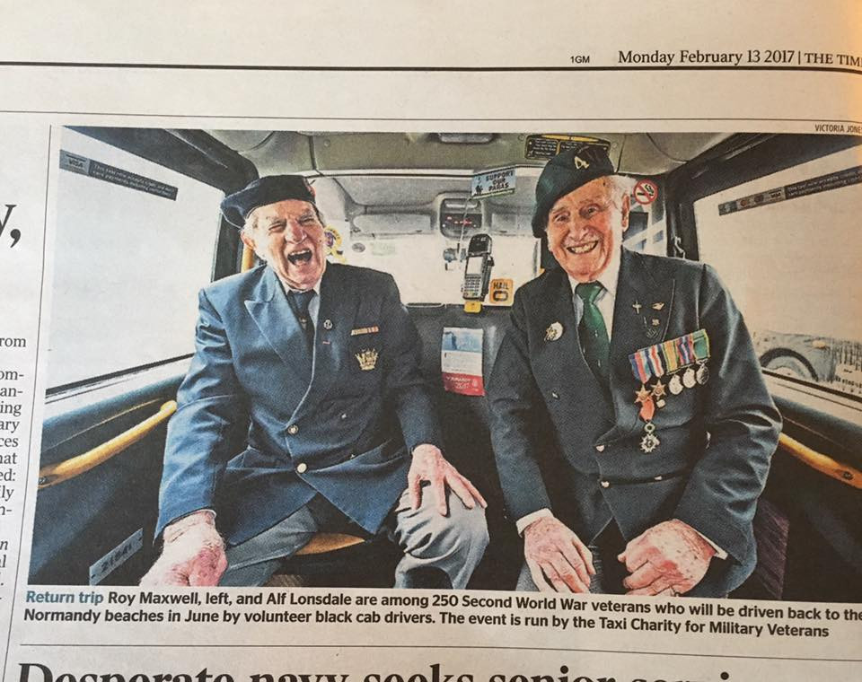 Taxi Charity in The Times