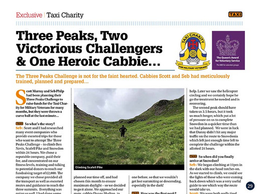 Three peaks, two victorious challengers and one heroic cabbie…