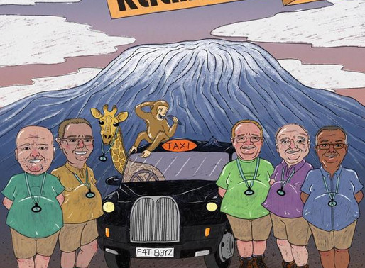 'Cabbies Do Kilimanjaro' working in a cab wash to fundraise for Taxi Charity (supported by G