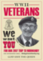 Taxi Charity recruitment poster for Back To The Beaches veterans' trip