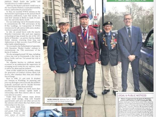 The Taxi Charity for Military Veterans' work, City Matters