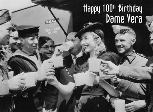 Happy 100th birthday to our patron, Dame Vera Lynn