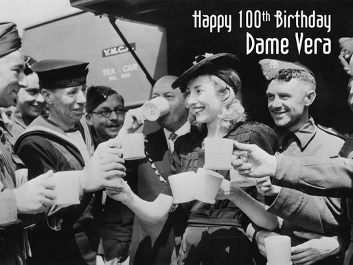 Happy 100th birthday to our patron, Dame Vera Lynn