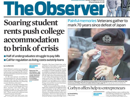 Moving photo of veteran Danny McCrudden on front page of The Observer